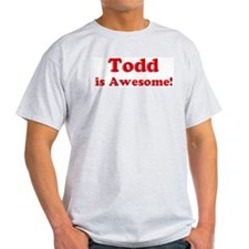 Todd is Awesome Ash Grey T-Shirt