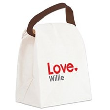 Love Willie Canvas Lunch Bag