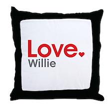 Love Willie Throw Pillow