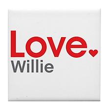 Love Willie Tile Coaster