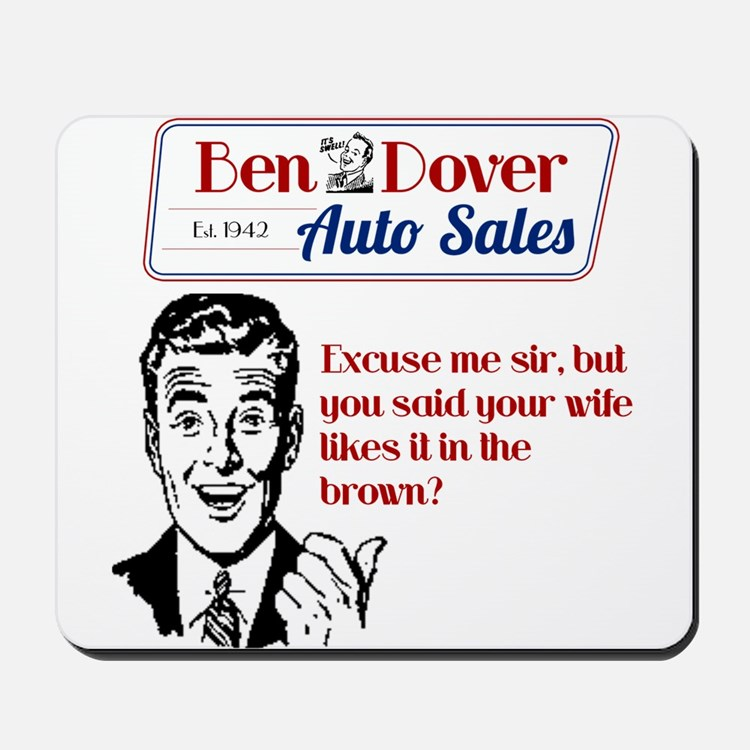 Funny Used Car Sales Like It In The Brown Mousepad