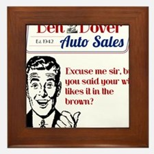 Funny Used Car Sales Like It In The Brown Framed T