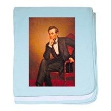 Young Abraham Lincoln baby blanket