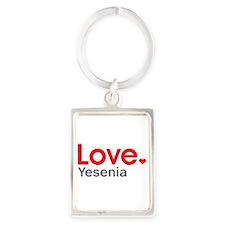 Love Yesenia Portrait Keychain