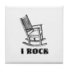 I ROCK Tile Coaster