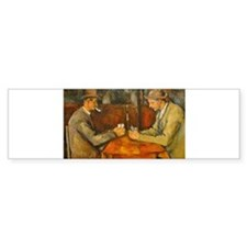 Famous Paintings: The Card Players Bumper Bumper Sticker