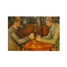 Famous Paintings: The Card Players Rectangle Magne