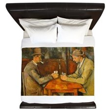 Famous Paintings: The Card Players King Duvet