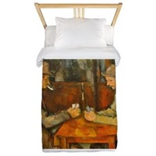 Famous Paintings: The Card Players Twin Duvet