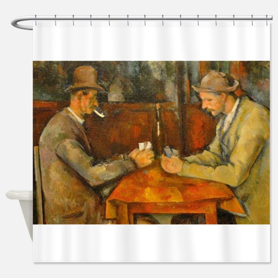 Famous Paintings: The Card Players Shower Curtain