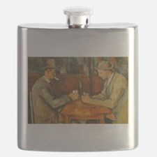 Famous Paintings: The Card Players Flask