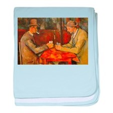 Famous Paintings: The Card Players baby blanket