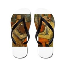 Famous Paintings: The Card Players Flip Flops