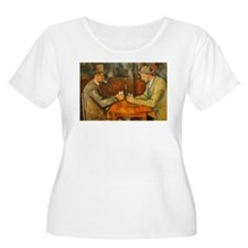 Famous Paintings: The Card Players Plus Size T-Shi
