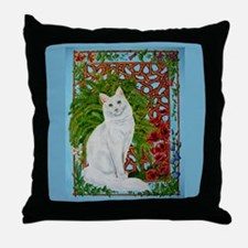 Snowis Garden Throw Pillow