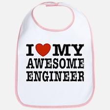I Love My Awesome Engineer Bib