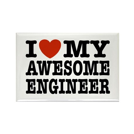I Love My Awesome Engineer Rectangle Magnet