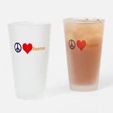 Peace, Love, Rescue Drinking Glass