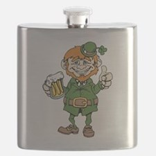Drunk Leprechaun Flask