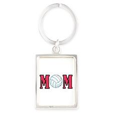 VOLLEYBALL MOM Portrait Keychain