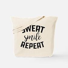 Sweat Smile Repeat Tote Bag