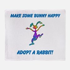 Adopt a Rabbit Month Throw Blanket