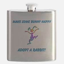 Adopt a Rabbit Month Flask