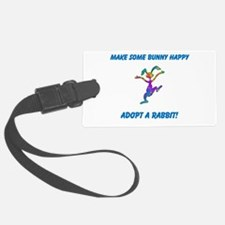 Adopt a Rabbit Month Luggage Tag