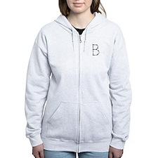 Barbed Wire Monogram B Zip Hoodie