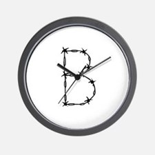 Barbed Wire Monogram B Wall Clock