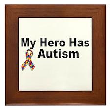 My Hero Has Autism Framed Tile