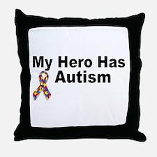 My Hero Has Autism Throw Pillow