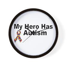 My Hero Has Autism Wall Clock