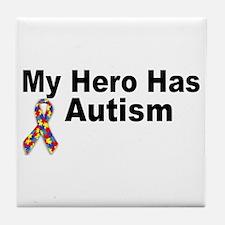 My Hero Has Autism Tile Coaster