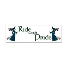 Ride with Pride Car Magnet 10 x 3
