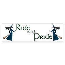 Ride with Pride Bumper Bumper Sticker