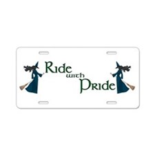 Ride with Pride Aluminum License Plate
