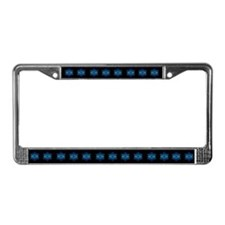 Snowflakes Black License Plate Frame