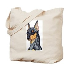 Miniature Pinscher B&T Portrait Tote Bag