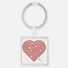 I Love Adriana Square Keychain