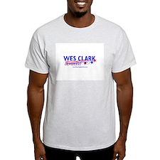 """Wes Clark Dem"" Ash Grey T-Shirt"