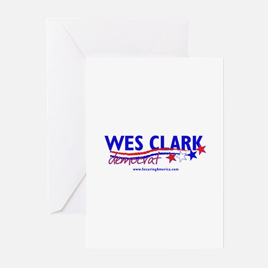"""Wes Clark Dem"" Greeting Cards (Pk of 10)"