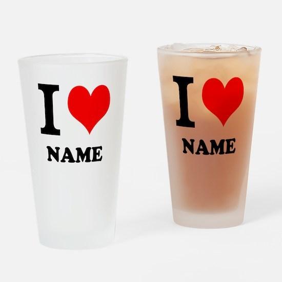 I Heart Drinking Glass