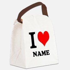 I Heart Canvas Lunch Bag