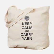 Unique Stay calm carry yarn Tote Bag