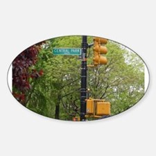 Central Park street sign Decal