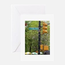 Central Park street sign Greeting Card