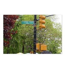 Central Park street sign Postcards (Package of 8)