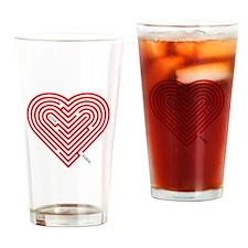 I Love Alisha Drinking Glass