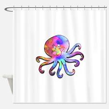 tyedye octopus.psd Shower Curtain